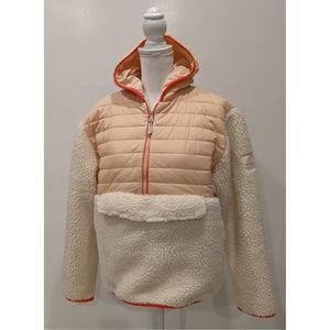 NEW Ivory Ella half zip sherpa hoodie jacket